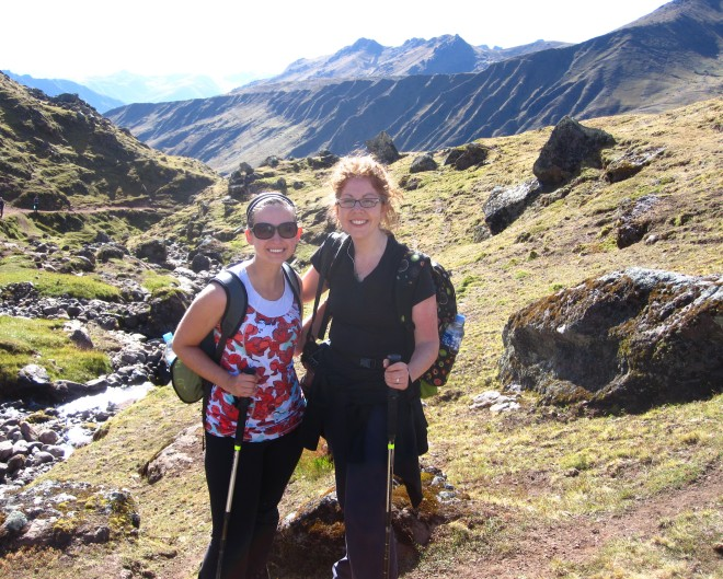 Doing the Lares Trek in the Andes.