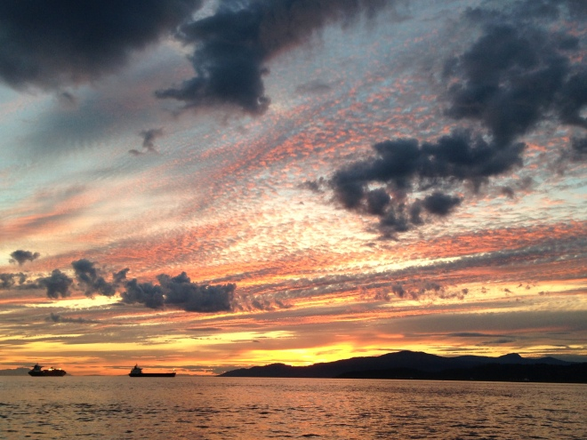 Sunset over English Bay, Vancouver