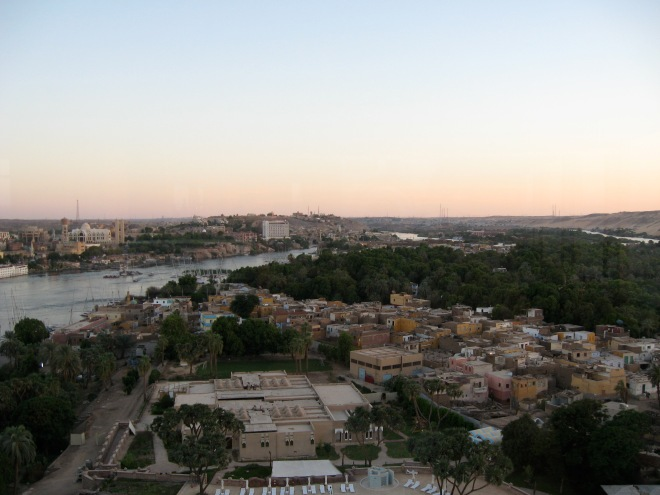 Overlooking Aswan and the Nile River