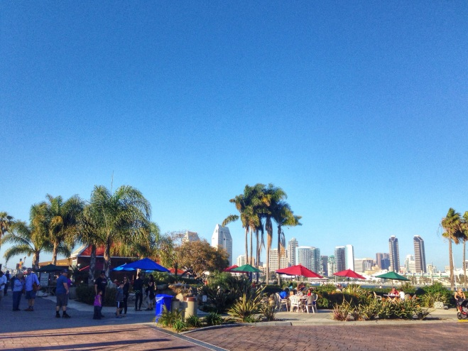 Cute shops and restaurants at the Ferry Landing on Coronado